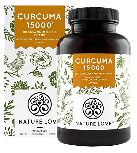 NATURE LOVE® Curcuma Extrakt - Hochdosiert mit 95% Extrakt - Laborgeprüft, vegan